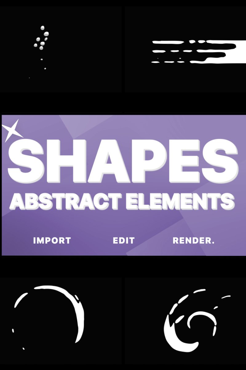 "Tema After Effects Intro #80991 ""Funny Abstract Shapes"""