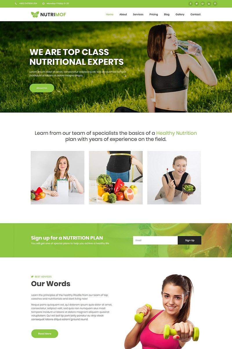"Template Joomla Responsive #80911 ""Nutrimof - Nutritional & Health"""