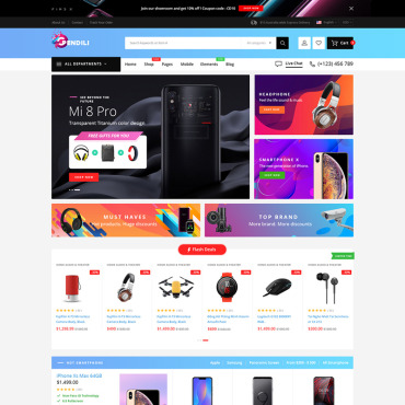 Купить  пофессиональные WooCommerce шаблоны. Купить шаблон #81001 и создать сайт.
