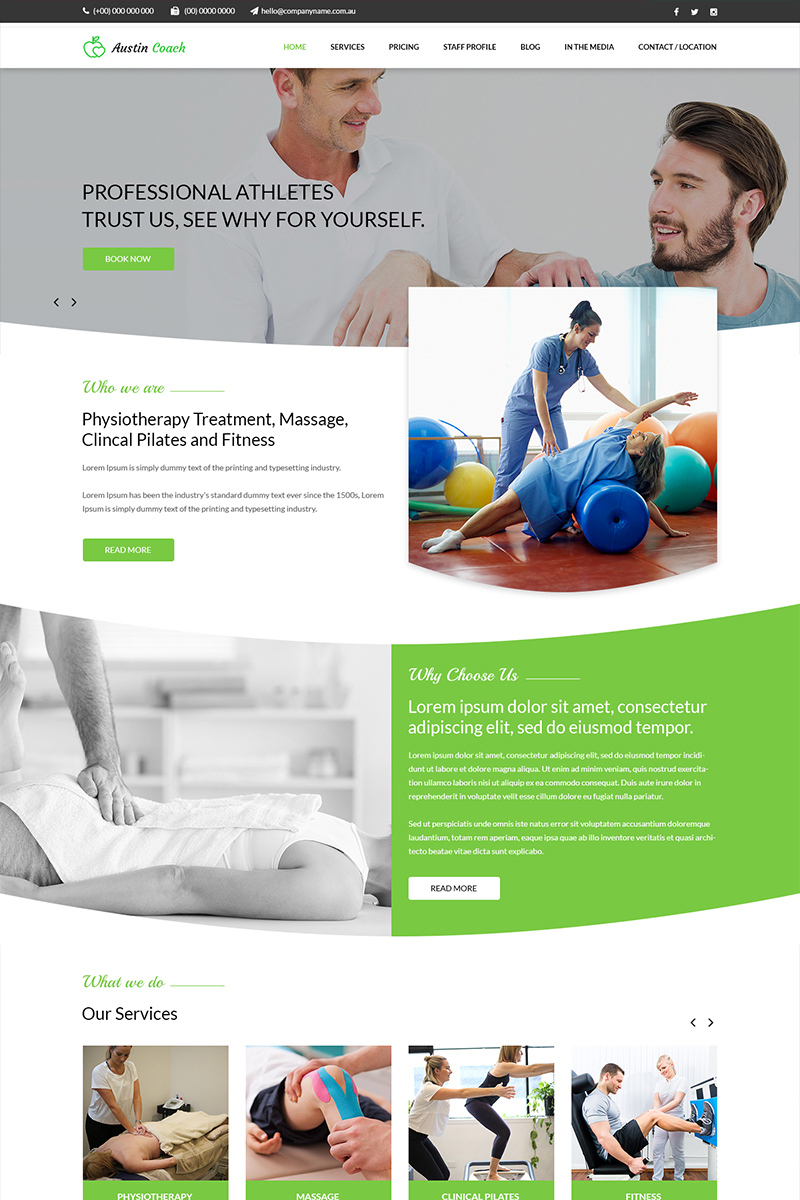 Austin Coach - Professional Trainer PSD Template