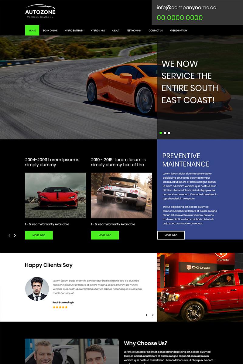 Autozone - Car Dealers PSD Template PSD Template