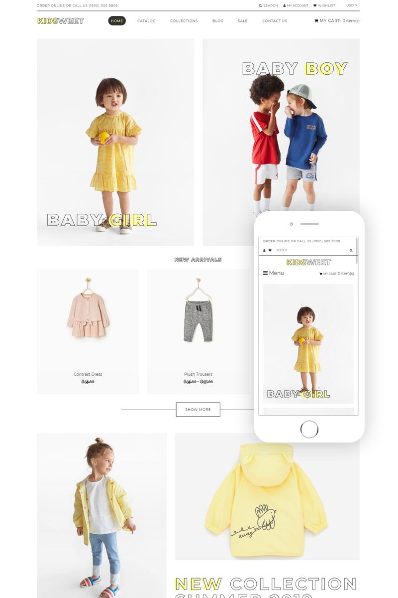 Kidsweet - Kids Fash ion Clean Shopify Theme - screenshot