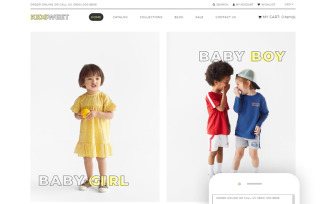 Kidsweet - Kids Fash ion Clean Shopify Theme