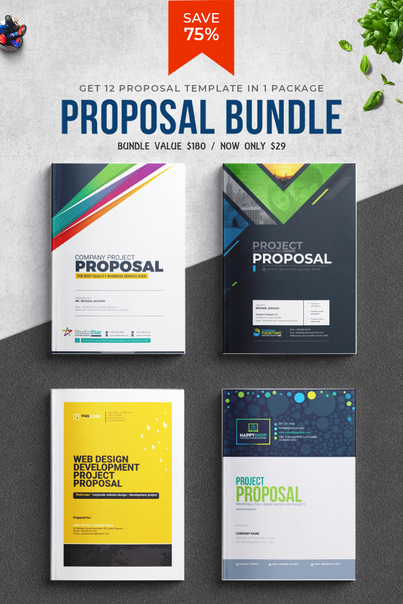 """Proposal Template Big Bundle"" 响应式企业设计模板 #81098"