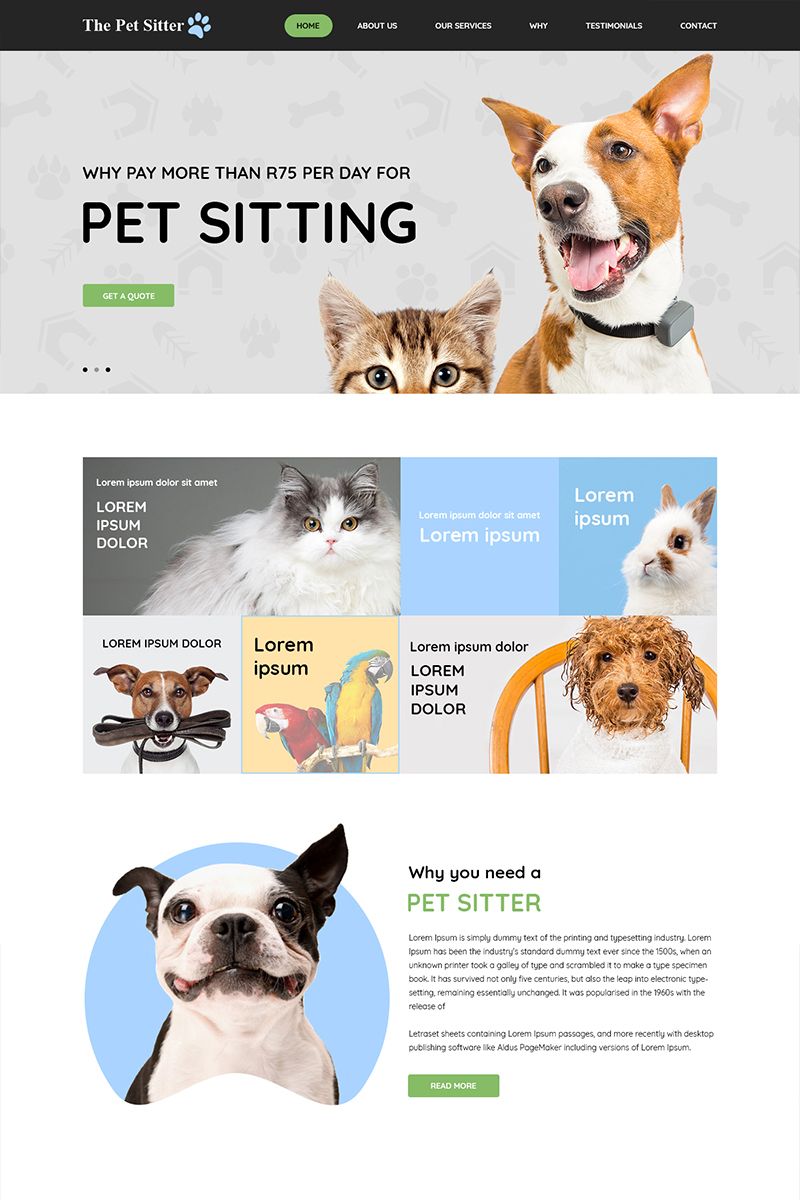 "PSD šablona ""The Pet Sitter - Pet Shop"" #81079"