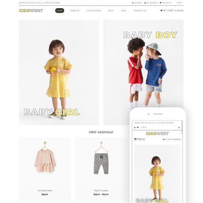 Responsives Shopify Theme für Babyshop