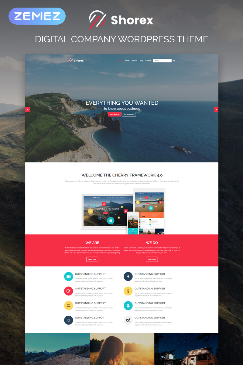 """Shorex - Digital Multipurpose Modern Elementor"" Responsive WordPress thema №81042"