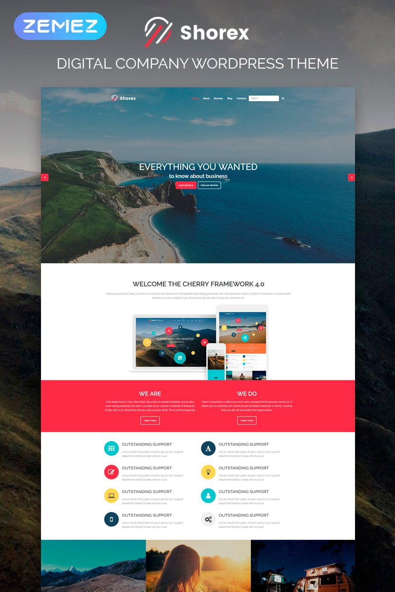 Shorex - Digital Multipurpose Modern Elementor WordPress Theme