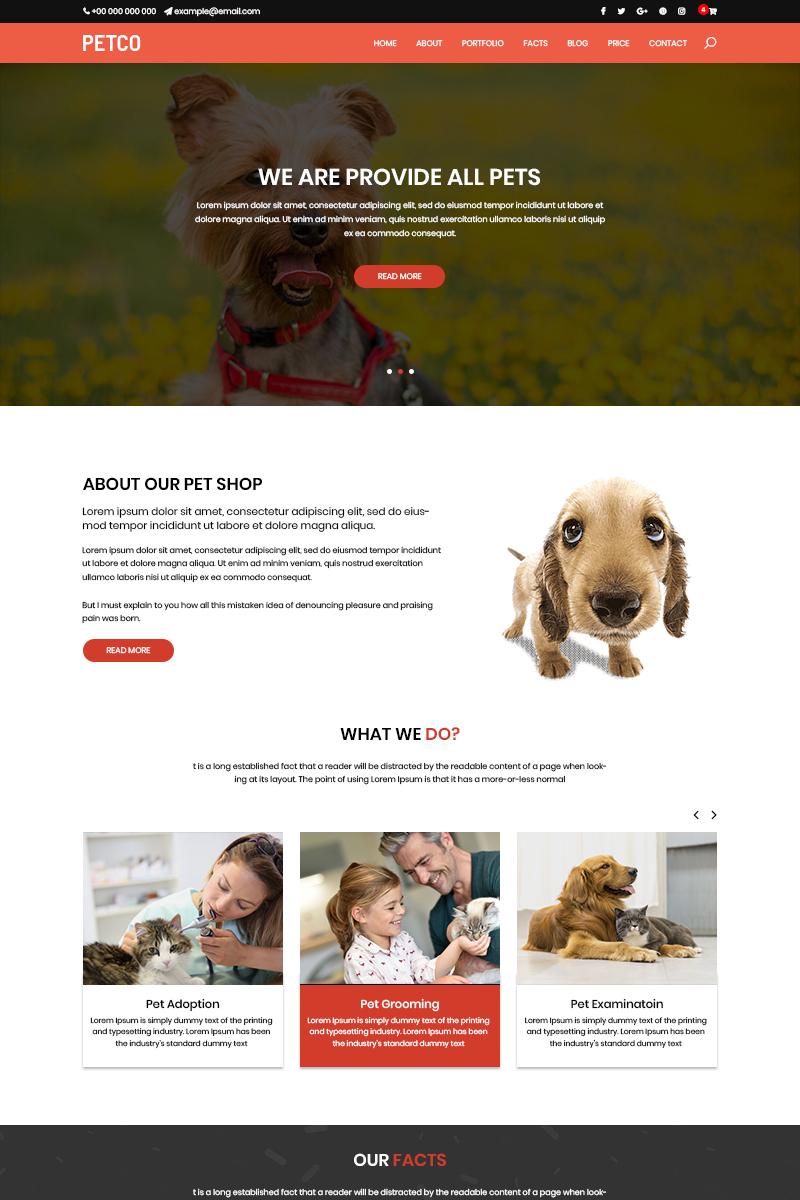 "Tema PSD #81078 ""Puppy Shop - Pet Shop"""