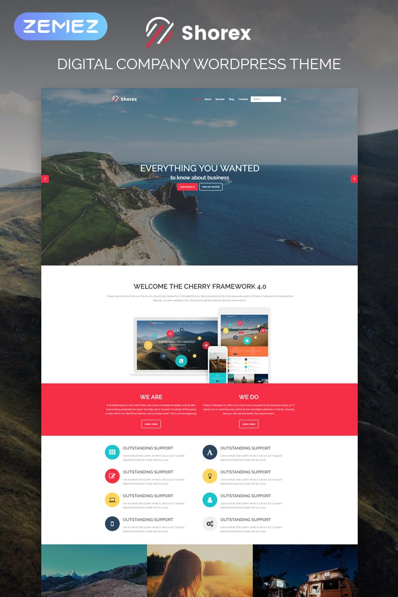 "Tema WordPress Responsive #81042 ""Shorex - Digital Multipurpose Modern Elementor"""