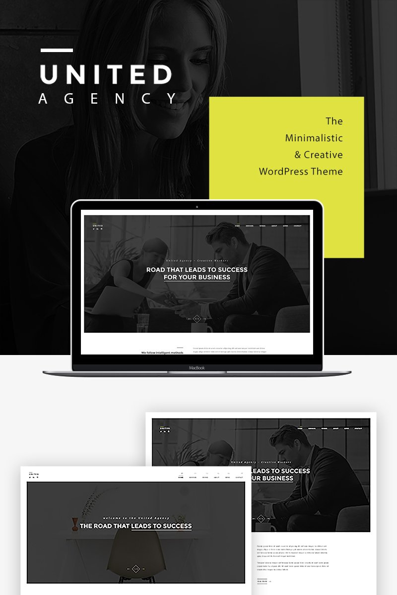 "WordPress Theme namens ""United - Minimal Portfolio"" #81045 - Screenshot"