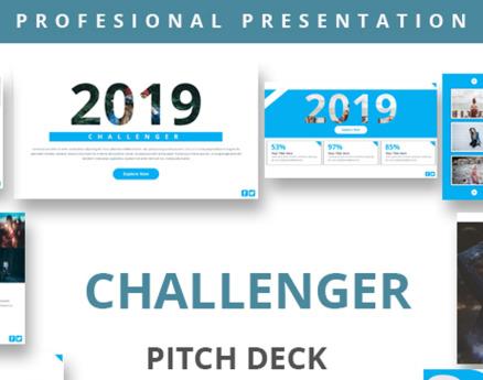 Challenger Pitch Deck PowerPoint Template