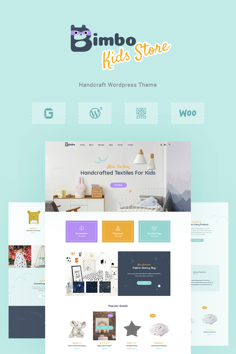 Bimbo - Craft & Handmade WooCommerce Theme - screenshot