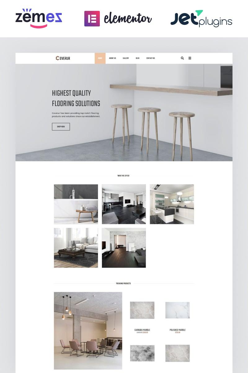 """Coverur - Flooring Company Multipurpose Minimal Elementor"" - адаптивний WordPress шаблон №81169 - скріншот"