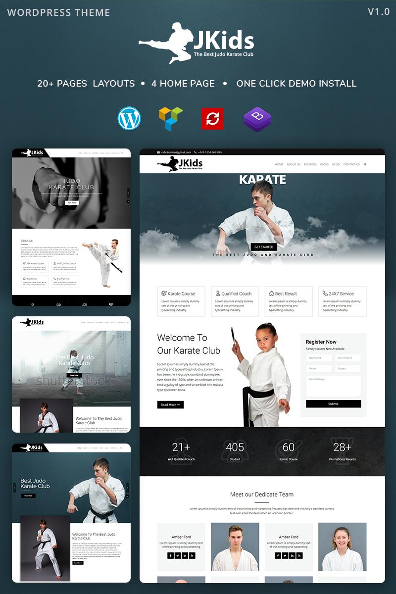 """Karate"" - адаптивний WordPress шаблон №81188"