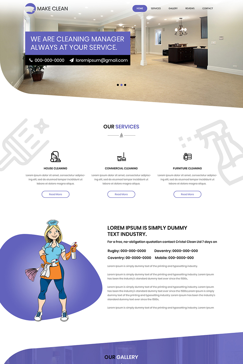 Make Clean - Cleaning Services PSD Template