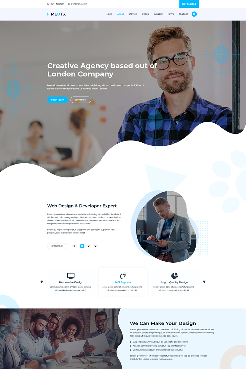 "Modello PSD Bootstrap #81116 ""Meuts Corporate"""
