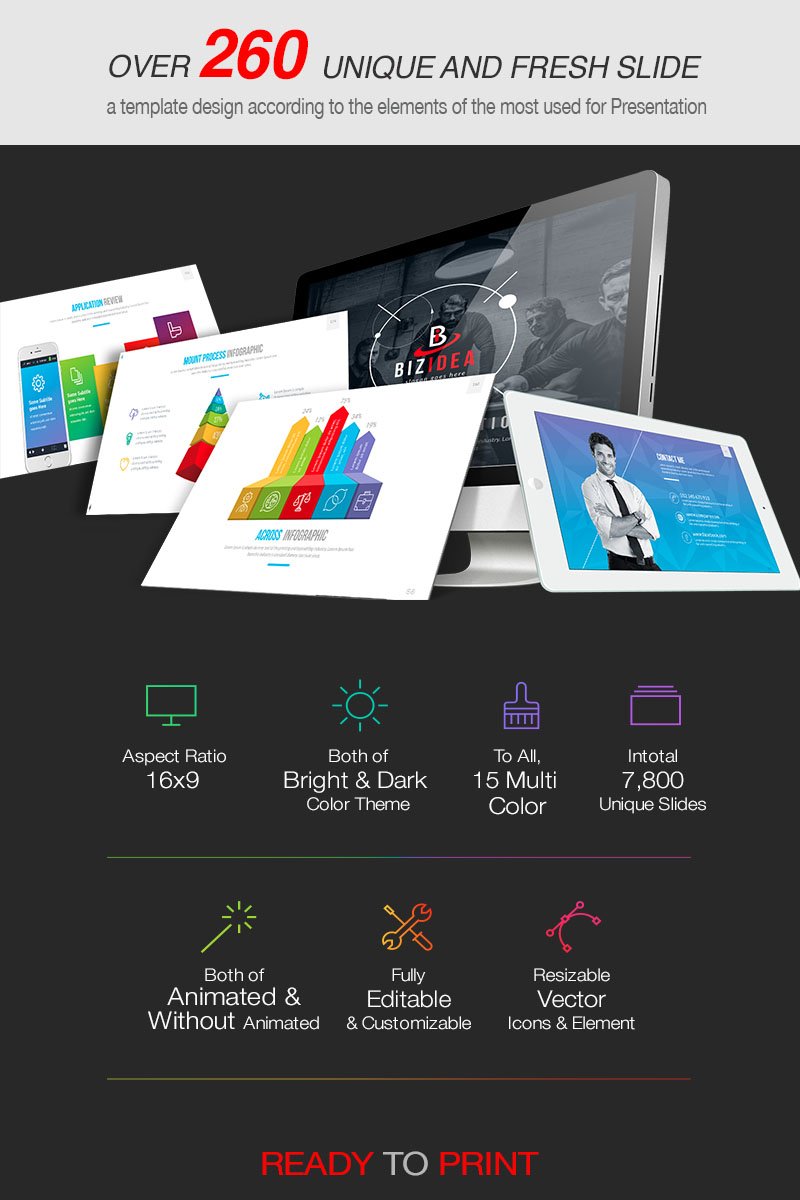 "PowerPoint šablona ""2019 BizIdea Presentation"" #81129"