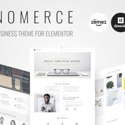 Responsive Innomerce - Business Multipurpose Minimal Elementor Wordpress Teması #81170