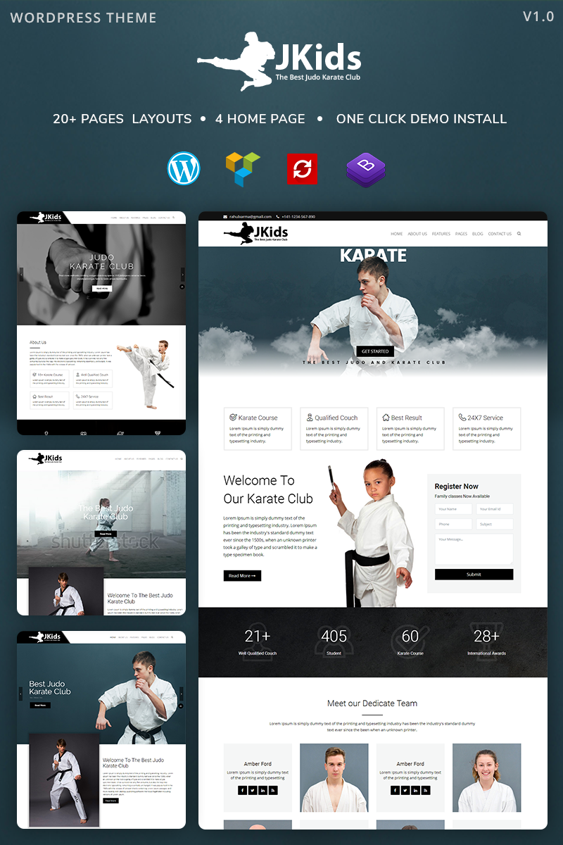 Responsivt Karate WordPress-tema #81188 - skärmbild