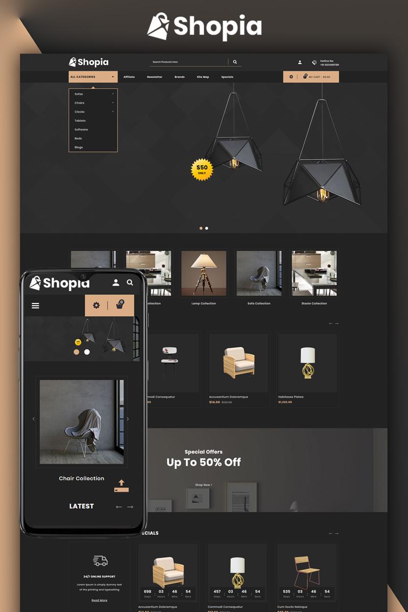 """Shopia - Furniture Store"" Responsive OpenCart Template №81171 - screenshot"