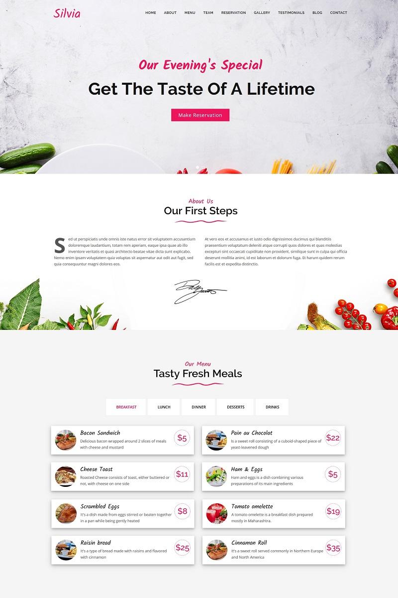 Silvia - Fast Food & Diner Joomla Template - screenshot