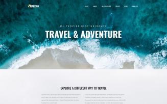 Mantro - Tourism One Page Modern WordPress Elementor Theme