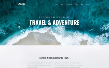 Mantro - Tourism One Page Modern Elementor WordPress Theme