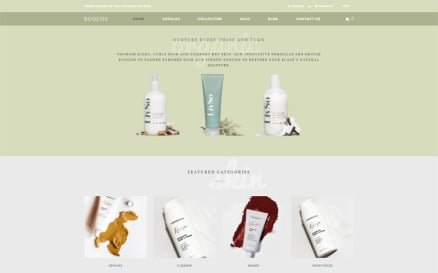 Ecocos - Cosmetics Store eCommerce Modern Shopify Theme