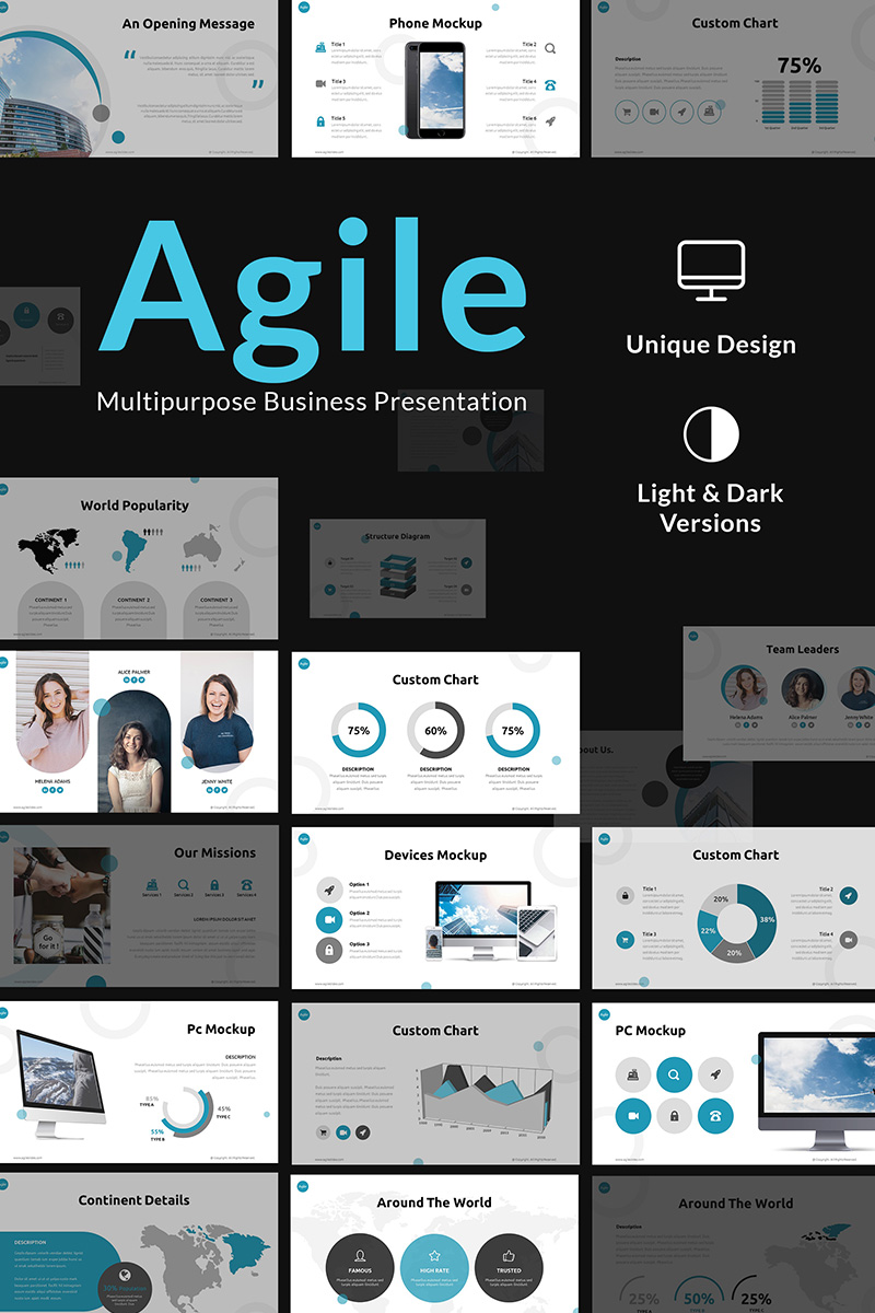 Agile Multipurpose Business Presentation PowerPoint Template