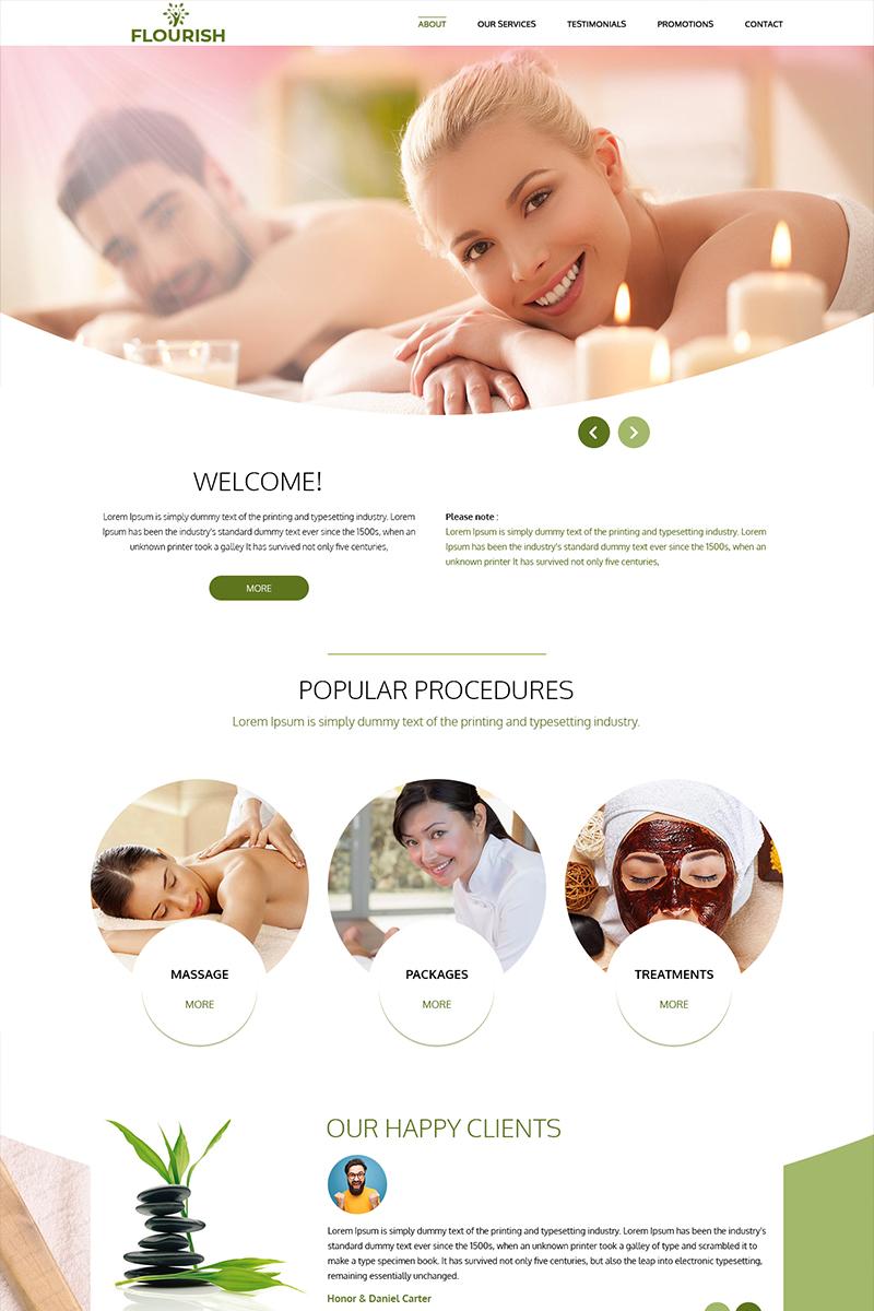 Flourish - Beauty Spa PSD Template
