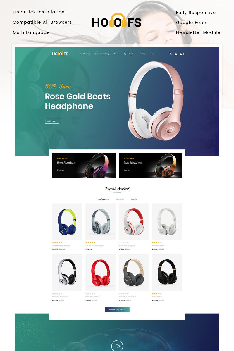 """Hoofs - Headphone Store"" - адаптивний OpenCart шаблон №81263"