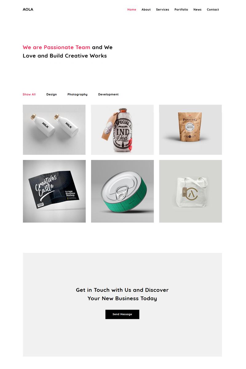 "Joomla Vorlage namens ""Aola - Minimalist Portfolio"" #81265 - Screenshot"