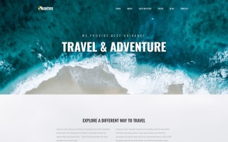 Mantro - Tourism One Page Modern WordPress Elementor Theme