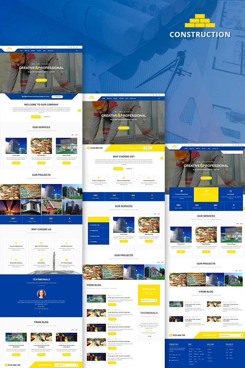 "Plantilla Joomla ""Construction & Building Business"" #81254"