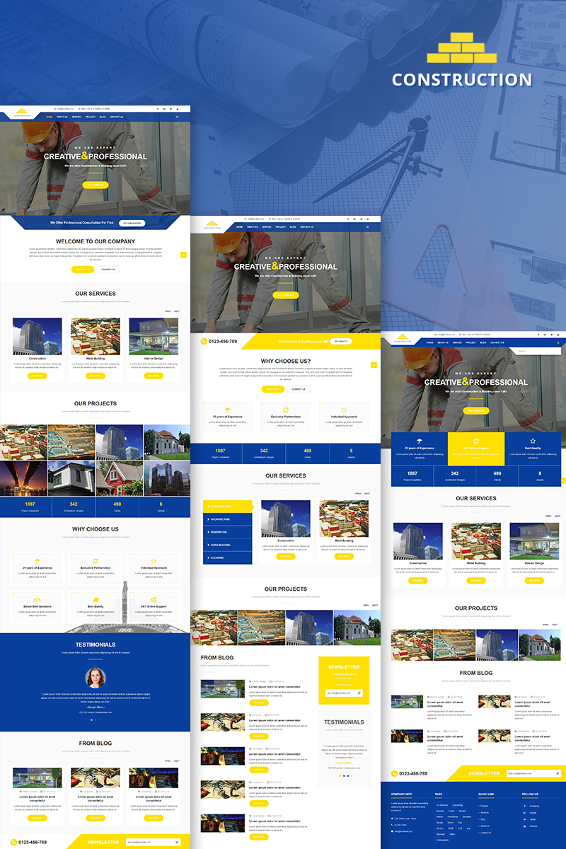 Reszponzív Construction & Building Business Joomla sablon 81254