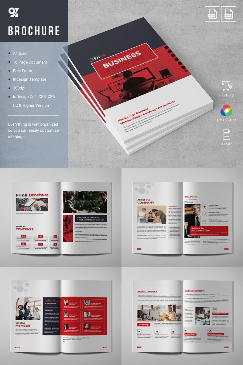 """""""Frink Company Brochure"""" Bedrijfsidentiteit template №81374 - screenshot"""