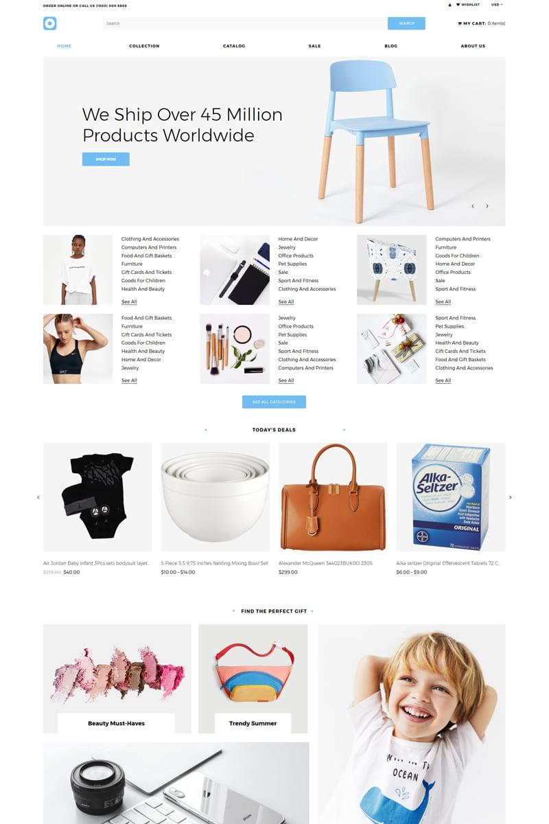 "Modello Shopify Responsive #81338 ""Shoprom - Wholesale Store Clean"""