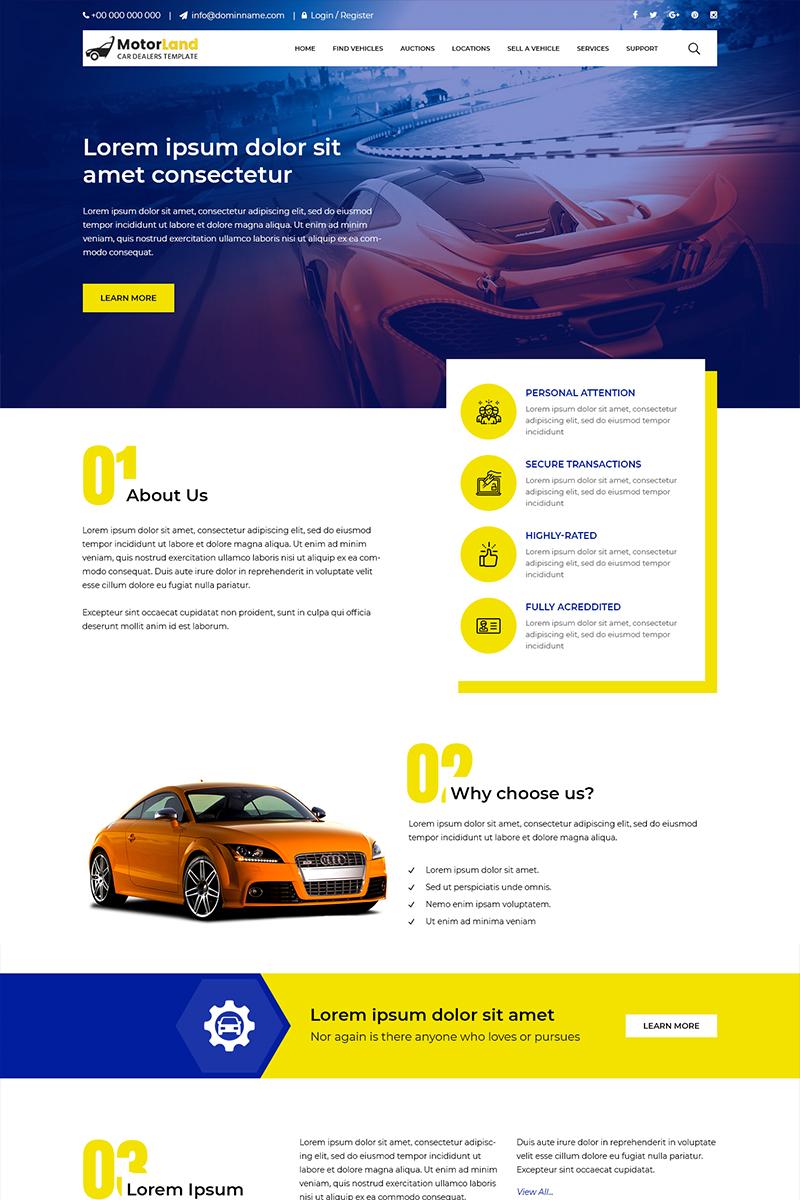 """PSD Vorlage namens """"Motorland - Car Dealer"""" #81333"""