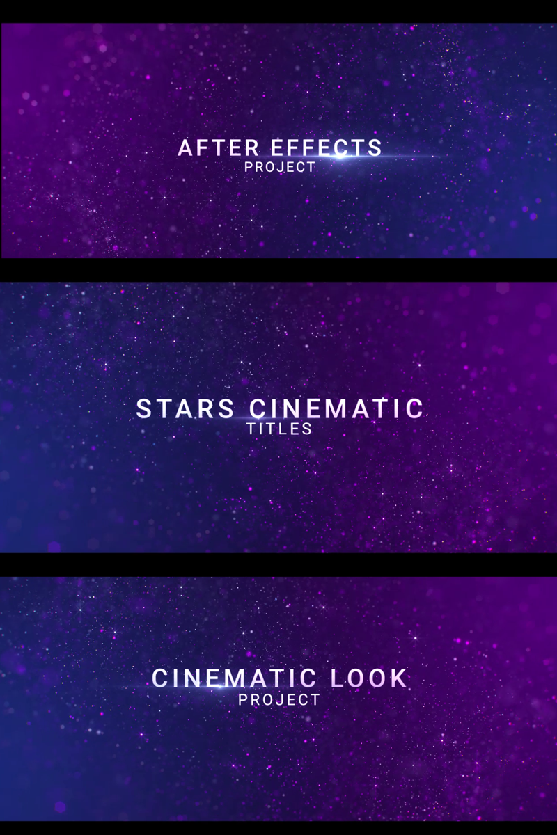 "Template After Effects Intro #81358 ""Stars Cinematic Titles"""