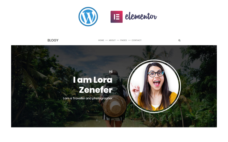 Blogy - Personal Blog Responsive Elementor Tema WordPress №81454