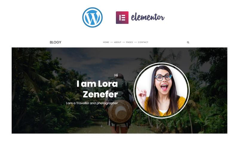 Blogy - Personal Blog Responsive Elementor WordPress Theme