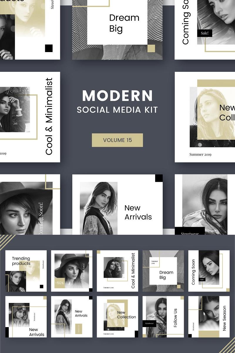 "Modello Social Media #81407 ""Modern Social Media Kit (Vol. 15)"""