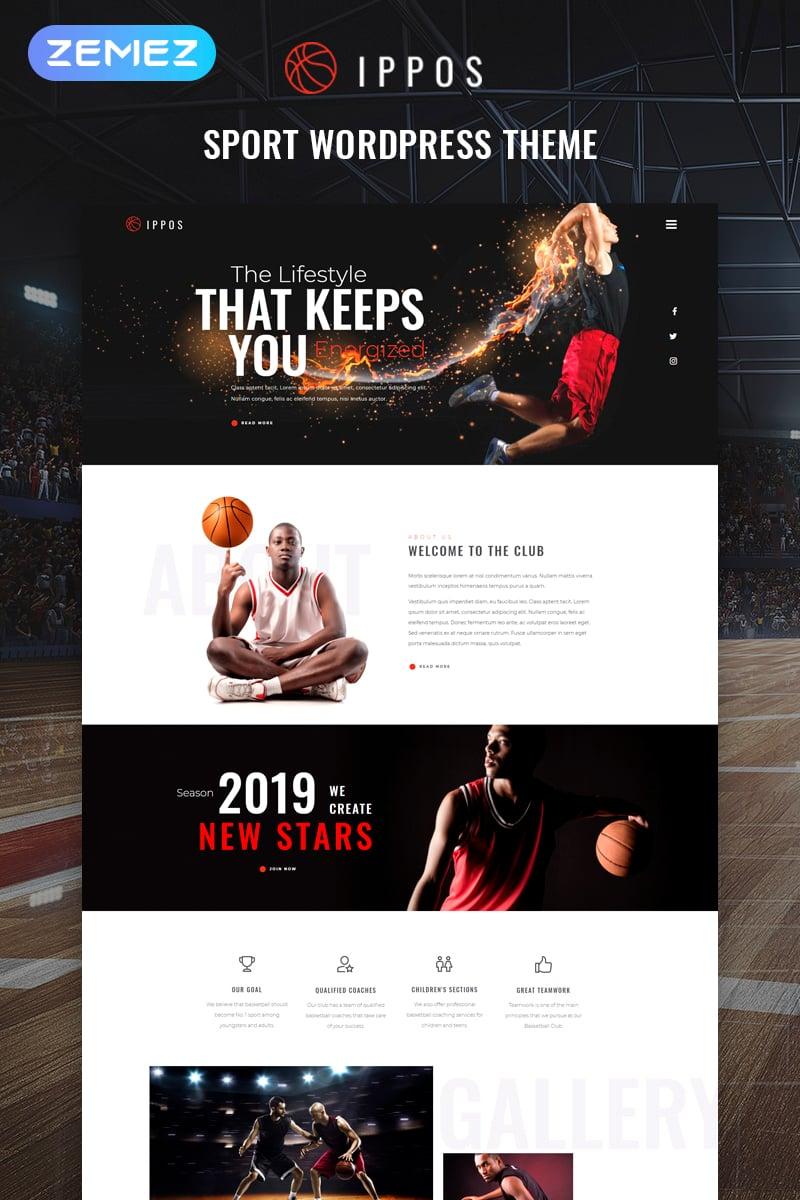 "Modello WordPress Responsive #81470 ""Ippos - Sport Multipurpose Modern Elementor"""