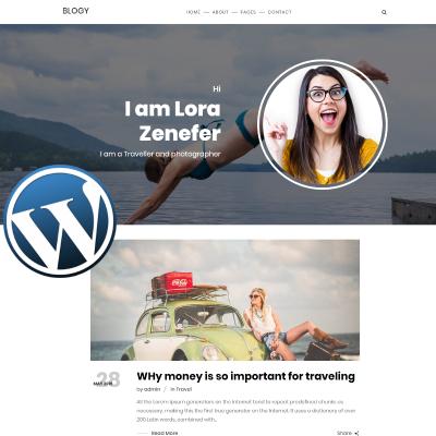Fashion Blog Responsive WordPress Motiv