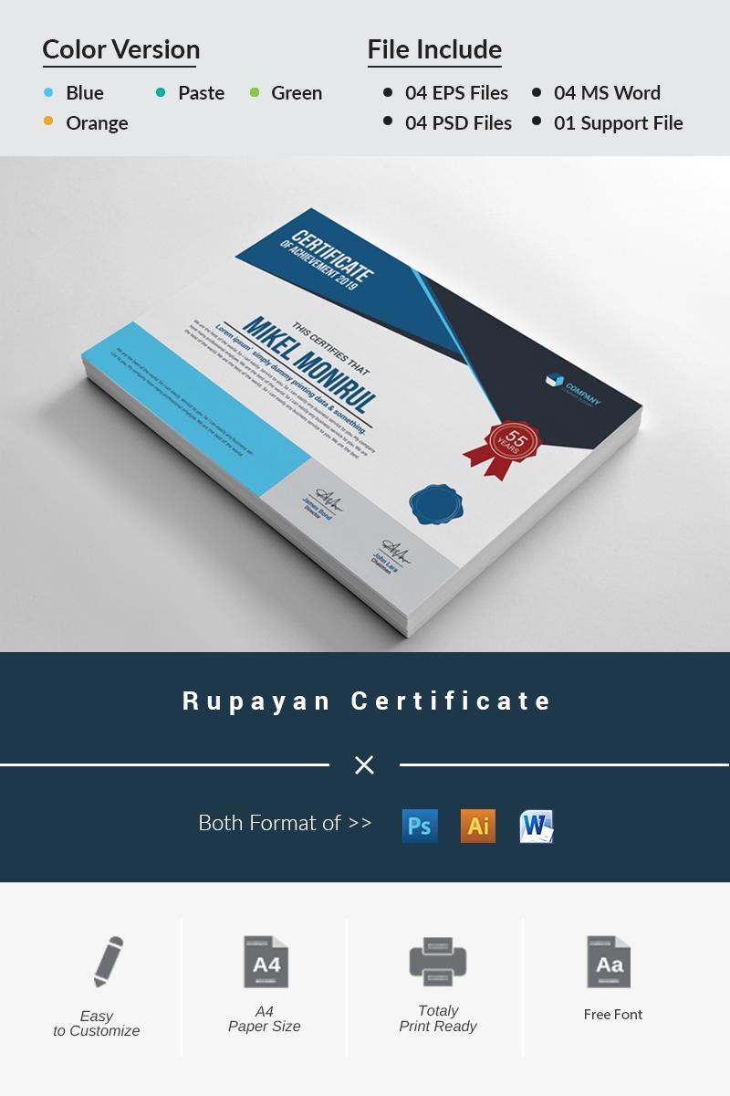 Rupayan Certificate Template - screenshot