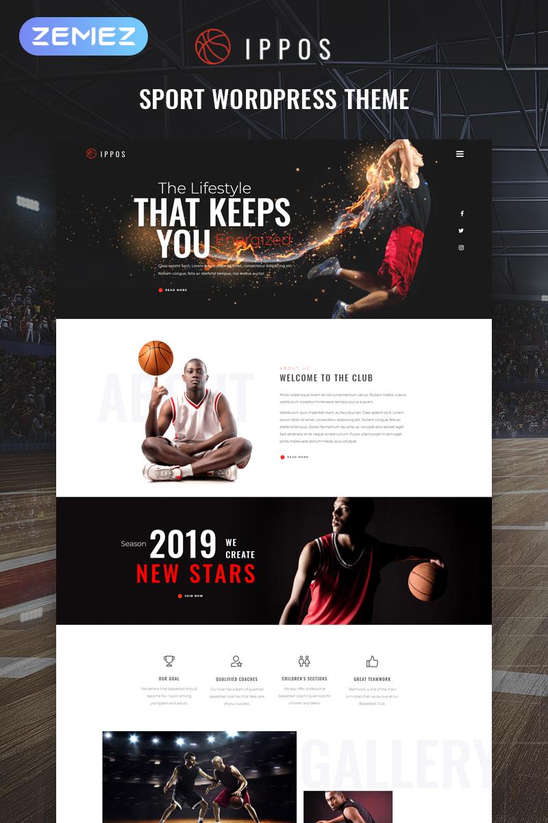 "Tema De WordPress ""Ippos - Sport Multipurpose Modern Elementor"" #81470"