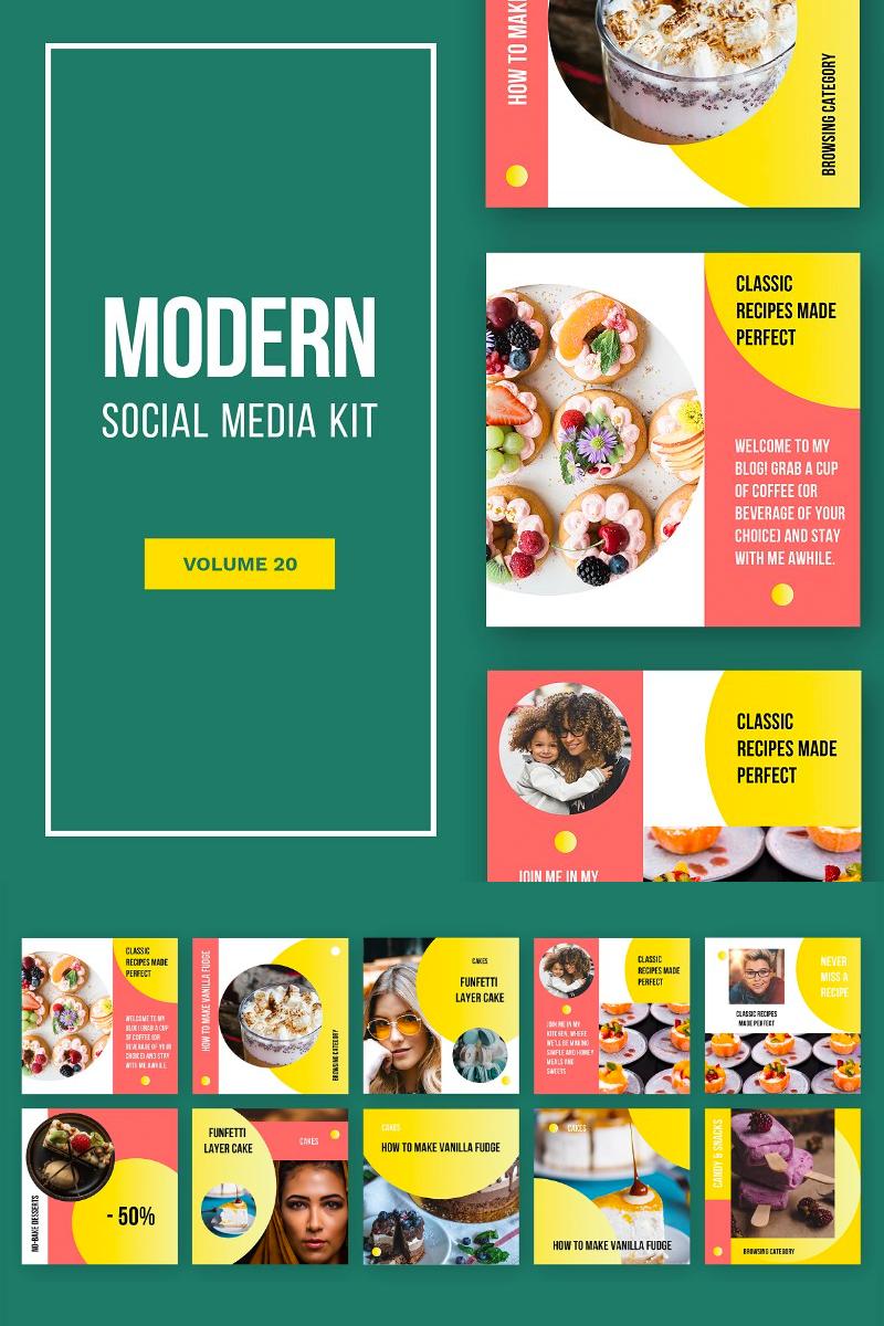 """Tema Social Media #81450 """"Modern Social Media Kit (Vol. 20)"""""""