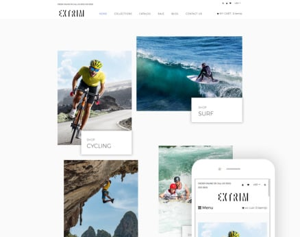 Extrim - Extreme Sports Multipage Modern Shopify Theme