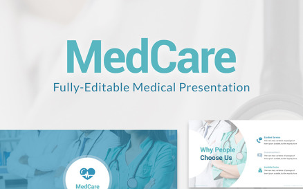 MedCare Fully-Editable PPT Slides PowerPoint Template